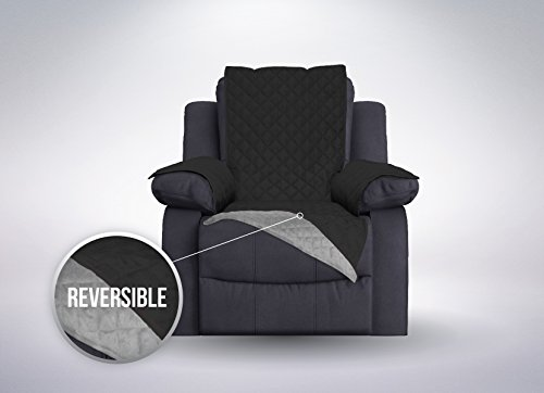 sofa shield the original sofa shield reversible furniture protector features elastic strap recliner blackgray black furniture covers