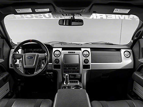 Modern Billet Polished/Brushed A/C Deluxe Vent Trim Covers with F-150 Logo - for Ford F-150 2010-2014