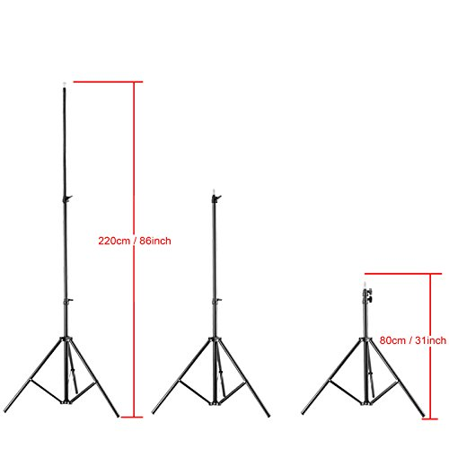 VILTROX LS-190 light stand 86''/7 Feet 220CM Photography Light Stand for LED Light , flash ,Relfectors, Softboxes, Umbrellas, Backgrounds by VILTROX