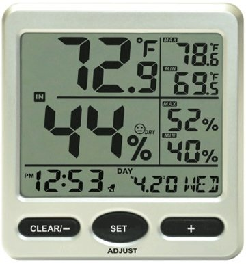 Price comparison product image Ambient Weather WS-26 Jumbo Indoor Temperature and Humidity Monitor with Calibration Feature