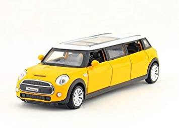 METRO TOYS 1:36 scale wheels diecast car stretch mini cooper open door pull  back alloy metal toy with sound & light model Collection