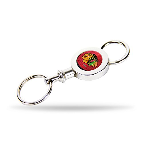 Rico Chicago Blackhawks Official NHL 3 inch Quick Release Key Chain Keychain by ()
