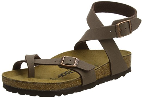 Birkenstock Unisex Yara Birko-Flor Mocha Sandals 8 W / 6 M US