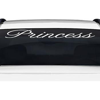 Amazoncom Sticky Creations Princess Altogscr Font Script - Custom stickers for cars windshield