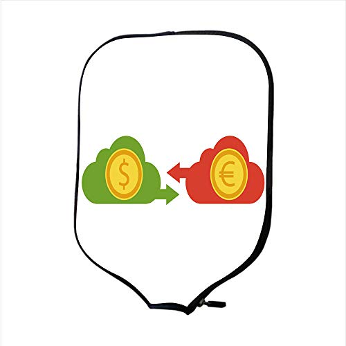 - SoSung Neoprene Pickleball Paddle Racket Cover Case/Euro and Dollar Currency Vector Money Currency Convert icon 6/Fit for Most Rackets - Protect Your Paddle