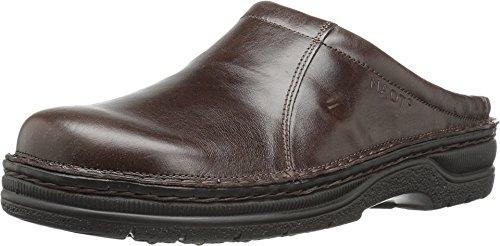 Naot Men's Bjorn Mule, Brown, 45 EU/12 M (Naot Leather Clogs)