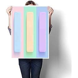 "smllmoonDecor Canvas Print Wall Art Mobile Phone Template Modern Gadget Decorative Fine Art Canvas Print Poster K 32"" x L 48"""