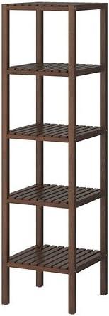 IKEA MOLGER - Estantería, marrón oscuro 37x140 cm: Amazon.es ...