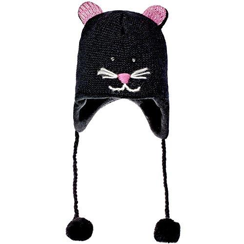 Knitwits Kiki The Kitty Pilot Hat Black Unisex Hat