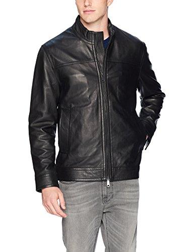 Robert Graham Men's Napoleon 2 Leather Jacket, Black, - 2 A Leather Jacket