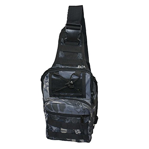 Tactical Sling Bag Chest Pack Shoulder Backpack Military Sport Bag camping camouflage camo climbing mountaineering ()