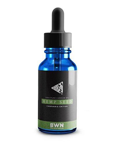 Blue World Naturals Cannabis Sativa Hemp Seed Carrier Oil  2 Oz