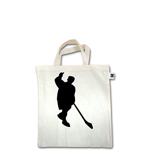 Eishockey - Eishockey - Unisize - Natural - XT500 - Fairtrade Henkeltasche / Jutebeutel mit kurzen Henkeln aus Bio-Baumwolle
