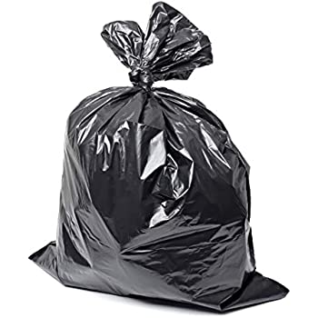 Black 45 Gallon Heavy Duty Trash Bags Can Liners 100-Pack