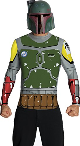 [Rubie's Men's Boba Fett Top Cape Mask Adult Costume Medium] (Boba Fett Costume Cheap)