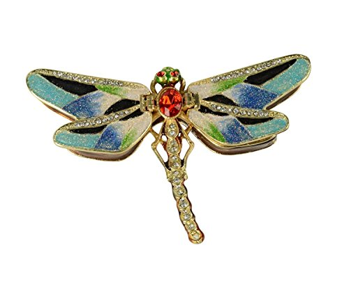 Jeweled Treasure (Treasures Jewelled Grey Dragonfly Enameled Trinket Box)