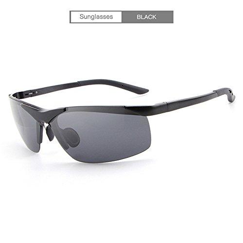 sol negro moda para sol gafas RFVBNM al aire personalidad para libre gafas hombres de Polarizador conducir de de gafas plata de g7ZqR
