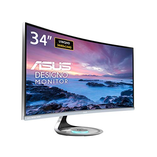 "Asus MX34VQ Designo Curved 34"" Monitor UQHD 100Hz DP HDMI Eye Care..."