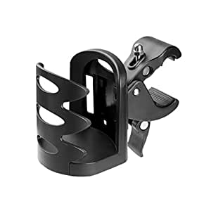 LIOOBO Bicycle Cup Holder Bike Water Bottle Cage Universal Car Baby Bottle Shelf Wheelchair Water Bottle Rack Cycling Accessories (Black)