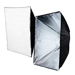 LimoStudio Photographic 540 Watt Photo Studio Flash Strobe Lighting Light Kit with Softbox Umbrella Reflector and Wireless Trigger, 3 x 180W Light Set, AGG1764V2