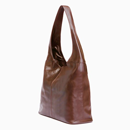 Made Hobo Italy Leather Brown Handbag in LaGaksta twUvqf
