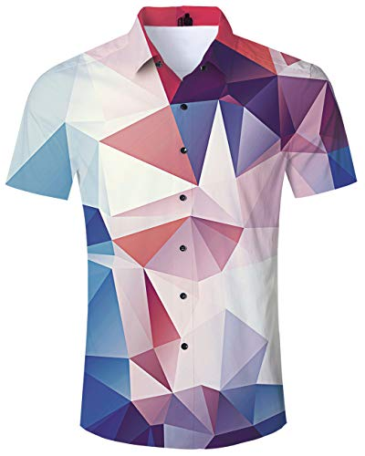 3D Print Shirts Red White Men