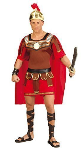 Mens Roman Centurion Ancient Greek Gladiator Historical Warrior Soldier Fancy Dress Costume Outfit Large (Large) -