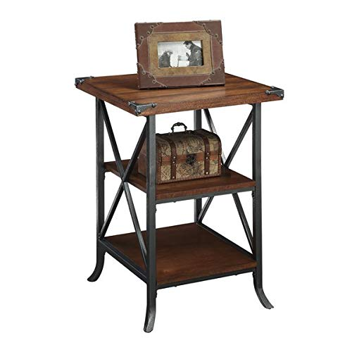 Metal Frame End Table - End Table 2 Shelves - Slate Gray