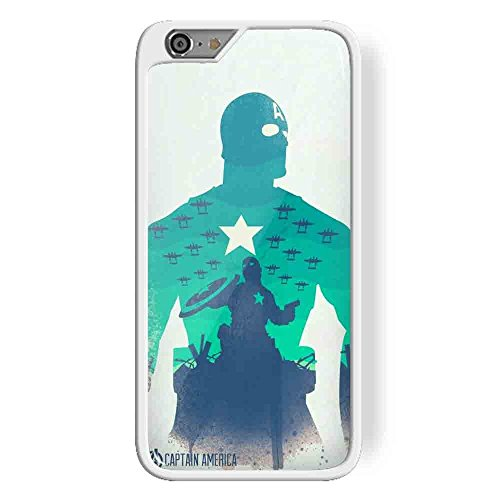 captain america poster for iPhone 6 Plus White case