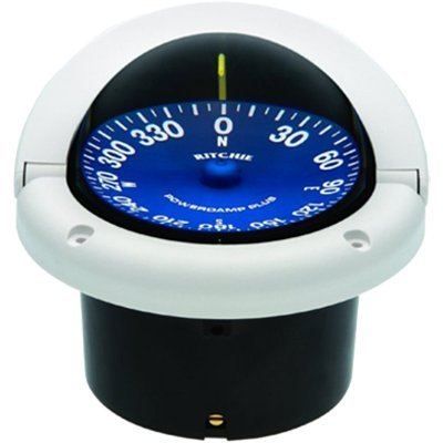 Ritchie Navigation SS-1002W Supersport Flush Mount Compass, White with Blue Dial, ()