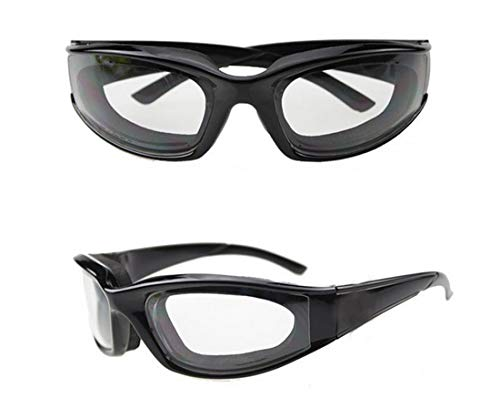 (Onion Goggles Eye Glasses Onions Chopping Tears Free Protector Kitchen Tool black color)