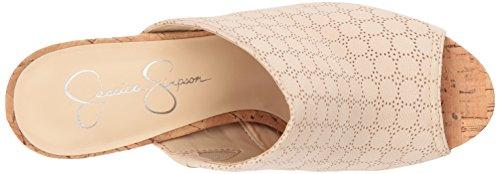 Jessica Simpson Donna Giavanna Sandalo Con Tacco Sandalo Crema