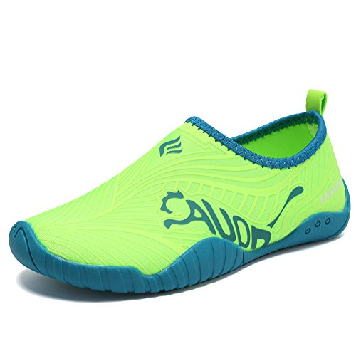 CIOR Kids Water Shoes Quick-Dry Boys and Girls Slip-on Aqua Beach Sneakers (Toddler/Little Kid/Big Kid),VY03,3green,31 1