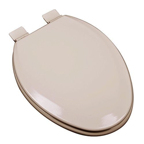 Bath Décor 1F1E5-30 Premium Molded Wood Elongated Toilet Seat with Adjustable Hinge & OSG, Fawn Beige