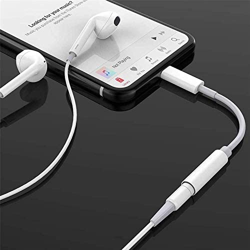 Shopkart 3.5mm Jack Converter for Earphone, Handsfree, Mic Jack Adapter Compatible for All iPhone (Only for Music Purpose)