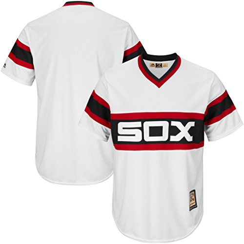 Chicago White Sox MLB Mens Majestic Cool Base Cooperstown V Neck Jersey White Big & Tall Sizes – DiZiSports Store