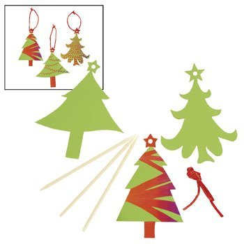 Magic Color Scratch Green Christmas Tree Ornaments - Crafts for Kids & Ornament Crafts
