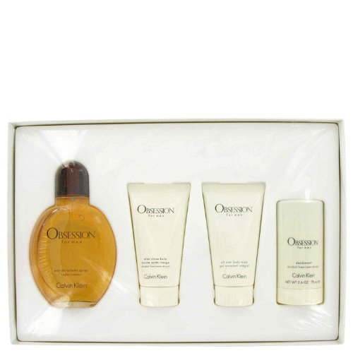 Obsession by Calvin Klein for Men Gift Set, 4 Piece