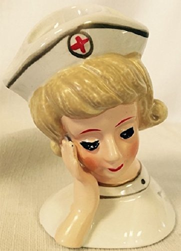 Pixie Lady Head Vase Nurse (Miniature)