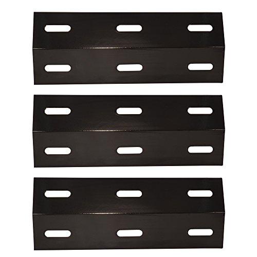 Ducane Porcelain Plates - XIDENGLONG 99341 (3-Pack) Flavorizer Bar Ducane,Porcelain Steel Heat Plate, Heat Shield, Ducane Heat Plates 3 Replacement for Grill King, Charmglow, Brinkmann, Uniflame,(16 7/8 x 6 9/16)
