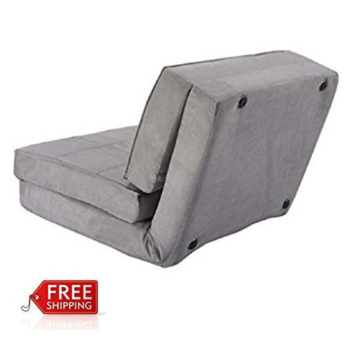 Amazon.com: Foam Flip Chair Bed Convertible Couch Bed Sleeper Grey Relaxing  Comfortable U0026 EBook By AllTim3Shopping: Kitchen U0026 Dining