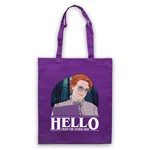 Stranger Things Barb Hello From The Other Side Bolso Morado