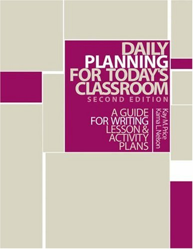 Management Lesson Plan (Daily Planning for Today's Classroom: A Guide to Writing Lesson and Activity Plans)