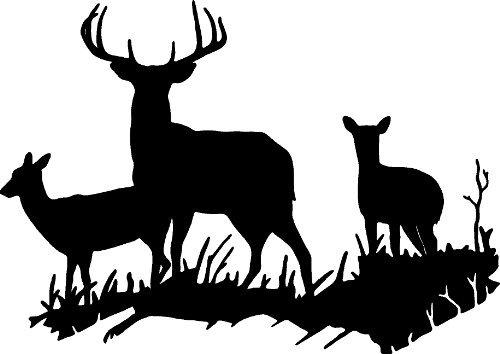 Deer Vinyl - BUCK DEER DOE HUNTING VINYL WALL DECAL HOME DECOR 18