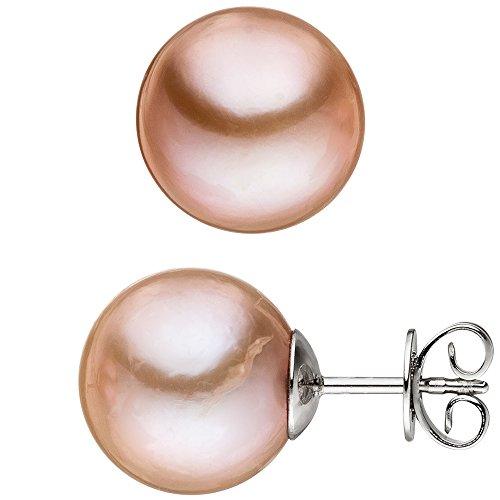 Jobo Paire de boucles d'oreilles en argent sterling 925avec 2Edison perles d'eau douce perle Boucles d'oreilles