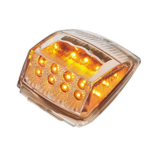 United Pacific 39528 17 Reflector Square Cab Light-Amber Led//Clear Lens