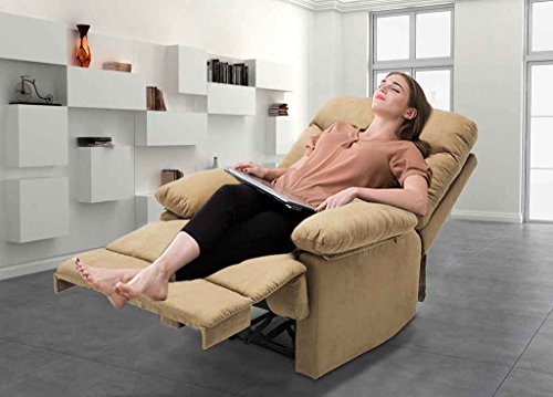 Massage Recliner Chair, Microfiber Ergonomic, Lounge Living Room Sofa with Heated Control, Modern Recliner Seat Home Theater Seating -