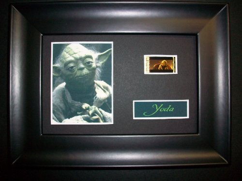 YODA STAR WARS Framed Movie Film Cell Display Compliments poster dvd ...