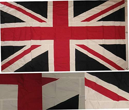 (Mikash 5x8 Embroidered Sewn UK United Kingdom Cotton Flag 5x8 Grommets | Model FLG - 2950)