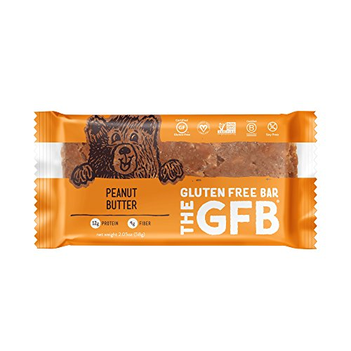 The GFB Gluten Free, Non-GMO High Protein Bars, Peanut Butter, 2.05 Ounce (Pack of 12) Crispy Rice Bar Peanut Butter